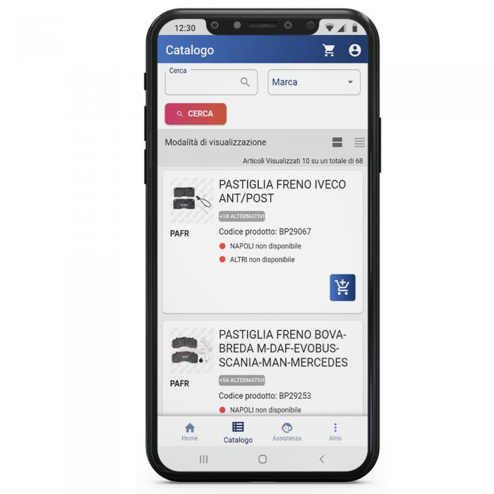 app ricambi veicoli industriali truck e bus Centro Ricambi Cema